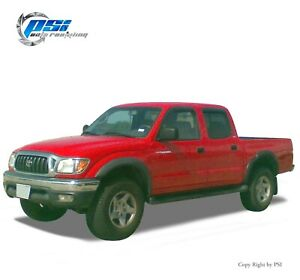 Sand Blast Textured Extension Style Fender Flares Fits Toyota Tacoma 95 04