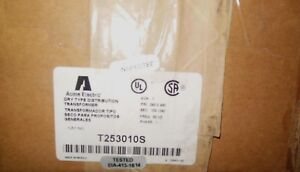 Acme Electric T253010s Dry Type Distribution Transformer T253013 1 kva