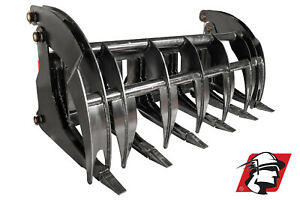 76 Wide Heavy Duty Root log Grapple Clamshell For Skid Loader Universal Fit