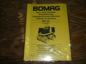 Bomag Bmp851 Vibratory Roller Trench Multi Purpose Compactor Part Catalog Manual
