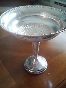 Vintage 6 1 4 Sterling Silver Weighted Compote Candy Dish