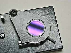 Zeiss Jena Field Slider For Jenalumar etc with Two Lambda Plates And Analyser