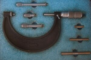 Nice Central Tool Company Cased Precision Mic Micrometer Kit Or Set 4 Boxed