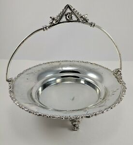Fb Rogers Silver Co 901 Handled Serving Platter Silver Plated With Legs