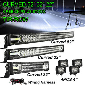Curved Led Light Bar 52 32 22inch Driving Truck Suv Boat Offroad Ute 4x4 Wiring
