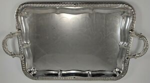 Vintage Silverplate Platter Rectangular Serving Tray 22 5 X 13