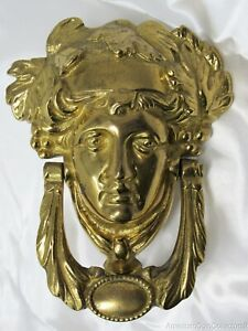 Greek Roman Vintage Door Knocker God Goddess Head Apollo Athena Brass 13316