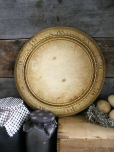 Beautiful Antique Carved Wood Bread Board Original Surface Free Shipping