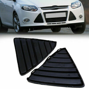 Pair Front Bumper Lower Grille Grills Mesh Cover Fit For Ford Focus 12 2013 2014