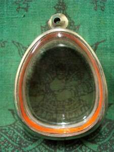 Stainless Case Frame For Thai Buddha Amulet Casing H 39mm W 33mm X18mm