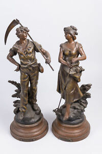 Auguste Moreau 1834 1917 Figures Signed By The Artist