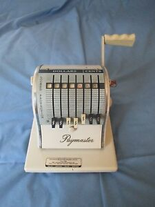 Vintage Paymaster Series 8000 Classic 8 Column Model Ribbon Check Writer