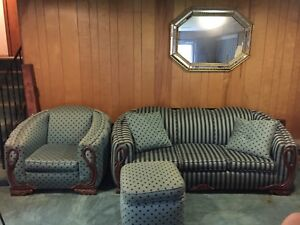Vtg Modern Couch Set Chair Streamline Deco Nouveau Pleated Free Pgh Delivery