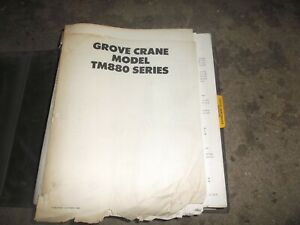 Grove Tm880 Truck Mounted Mobile Hydraulic Crane Shop Service Repair Manual