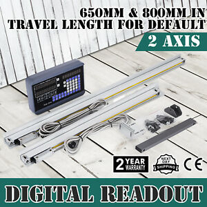 2 Axis 650 800mm Digital Readout Display Milling Power Off Memory Linear Scale