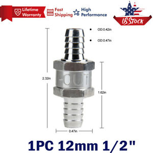 12mm 1 2 Inch Inline Check Valve Fuel Diesel Liquid Oil Air One Way Non Return