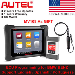 Autel Maxisys Elite Auto Diagnostic Scan Tool J2534 Ecu Programming Key Coding
