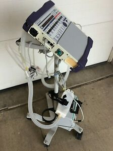 Used Carefusion Ltv 1200 Medical Ventilator Stand And External Power Supplies