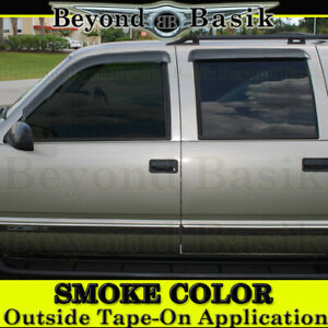 1995 1999 Chevy Tahoe Yukon 92 99 Suburban Smoke Door Vent Visors Rain Guards
