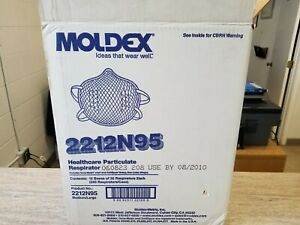 Moldex 2212n95 Healthcare Particulate Respirator Med large Full Case 240 Count