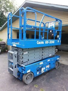 Genie 3246 Scissor Lift Skyjack Jlg Man Lift 349 Hours Newark Ohio 1930