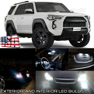 White Led Interior Exterior Fog Lights Kit For 10 2019 Toyota 4runner tool Usa