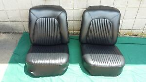 Chevrolet Corvette Seats Black 1958 1959 1960