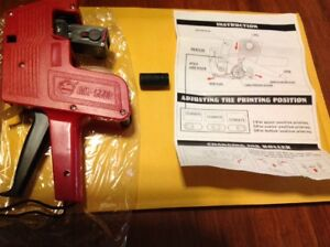 Price Tag Gun Labeler Mx 5500 Eos 8 Digits Labeller Included Labels Ink Refill