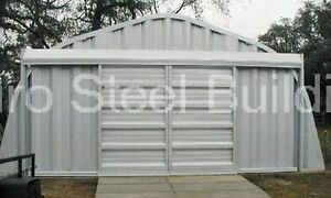 Durospan Steel A25x24x12 Metal Building Two Car Garage Kit seen On Tv Direct