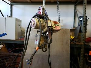 Coffing 1 2 Ton Electric Chain Hoist 30 Foot Lift 15 Foot Pendant 460v 3 Jf863 1