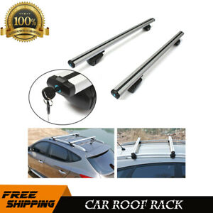 48 Aluminum Car Top Luggage Roof Rack Cross Bar Carrier Adjustable For Acura Vw