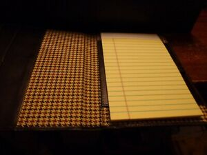 Cutter And Buck Brown Leather Writing Portfolio With Bloomberg Logo