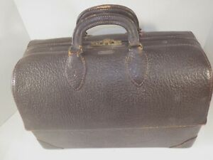 1940s Doctor Bag Emdee By Schell Brown Leather Full Of Supplies
