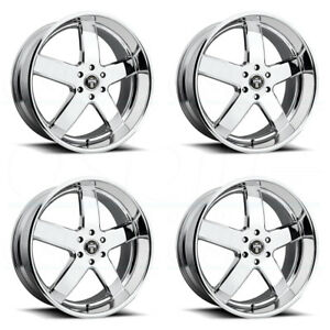 4 New 24 Dub Big Baller S222 Wheels 24x10 6x135 30 Chrome Rims