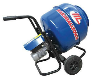 New Marshalltown Mix3 Electric Concrete Mixer 3 Cf Wheelbarrow Mixer 1 2 Hp
