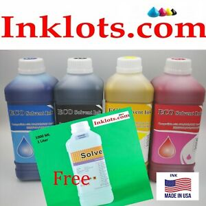 4l Eco Solvent Ink 1free Cleaner Solution Roland Mutoh Mimaki Epson Dx7 Dx5