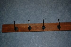Ornate Victorian Cast Iron Wall Hooks Set Of 4