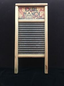 Vintage Dubl Handi Washboard Columbus Ohio Double Sided