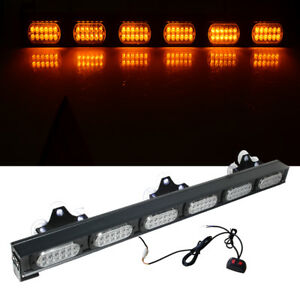 72 Led Amber Light Construction Warn Strobe Flash Yellow Bar Hazard Advisor