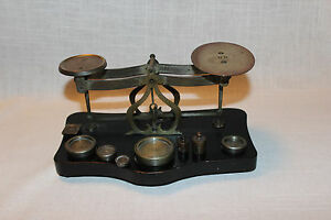French Antique Balance Scales With Weights