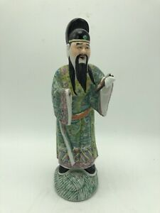 Antiue Chinese Famille Rose Statue Figure