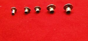 Nickel Plated Tubular Rivets 4 Diffrent Sizes