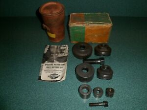 Vintage Greenlee No 737 Knockout Punch Set W Box Paperwork Pouch