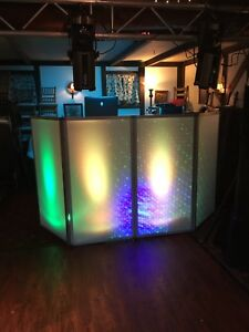 D j Facade Plexi Glass 4 Panel Dj Booth With Alkalite elation Octopod 80 Led