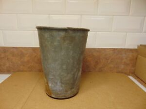 1 Maple Syrup Sap Buckets Old Galvanized Buckets Planters Flowers 6740