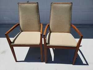 Mid Century Pair Of Teak Arm Chairs Mobler