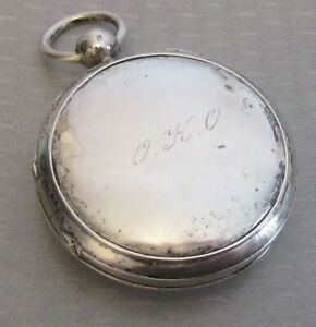Antique Continental Silver Vinaigrette Chatelaine Gold Washed Watch Case Style