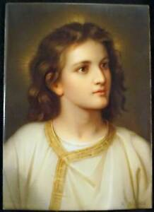 Kpm Porcelain Portrait Plaque Hand Painted Boy Jesus R Dietrich After Hofmann