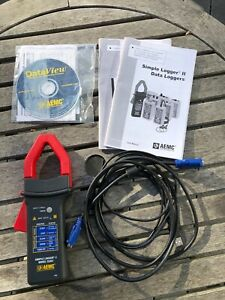 Aemc Cl601 Simple Logger Amp Clamp Frequency Hz With Cables And Cd