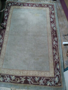 Genuine Tibetian Hand Made Knotted Wool Tibet Carpet Rug 5 X3